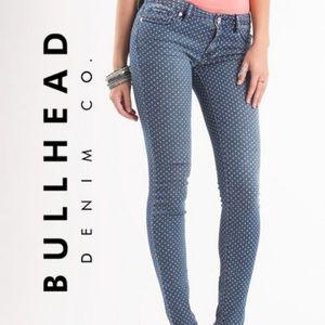 Bullhead Black | Polka Dot Denim Low-Rise Jean - 1